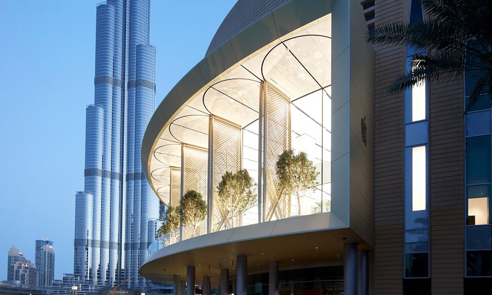 Apple's new 'Dubai Mall' has massive motorized solar wings