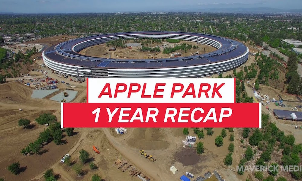 New 4K Drone Video Recaps a Year of Apple Park Construction