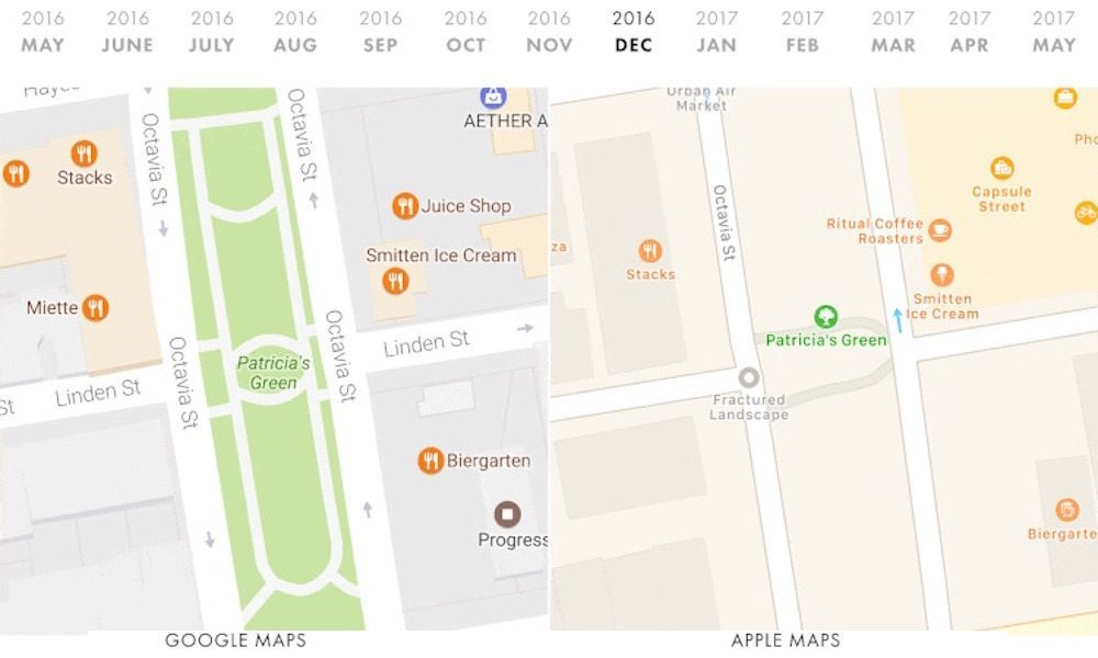 Shocking Comparison Reveals Apple Maps Lags Far Behind Google