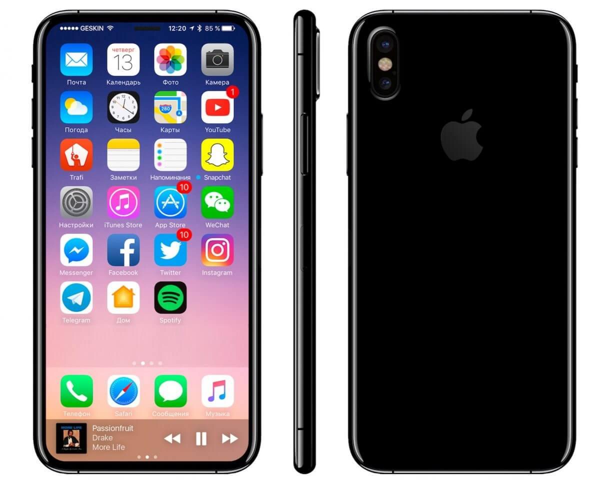 edge to edge display iphone 8