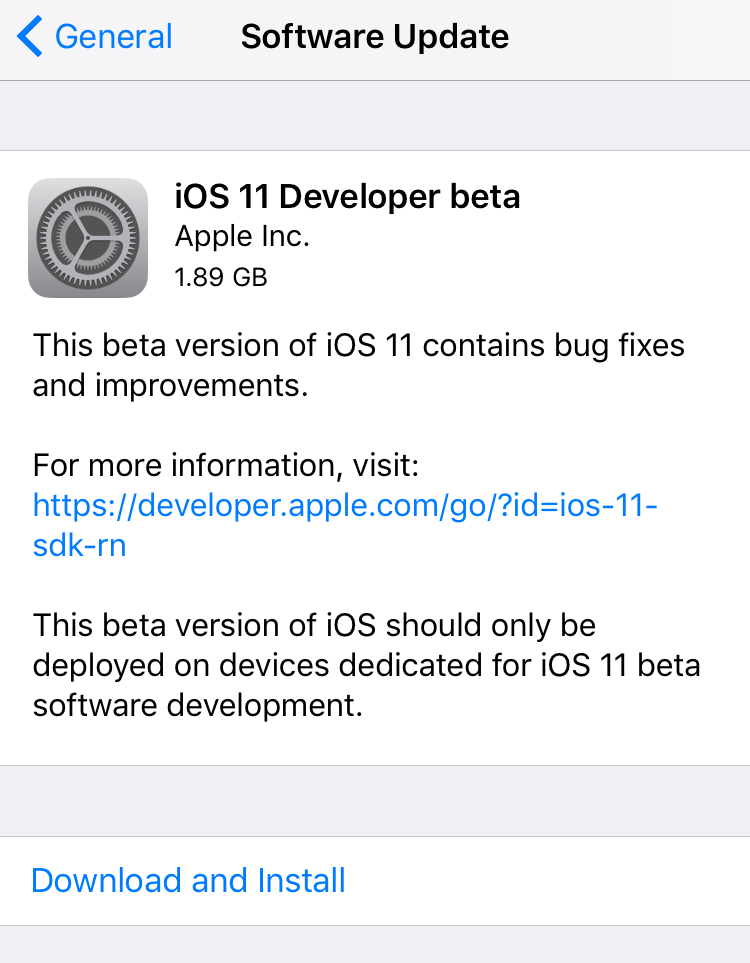 install ios 11 beta without developer account