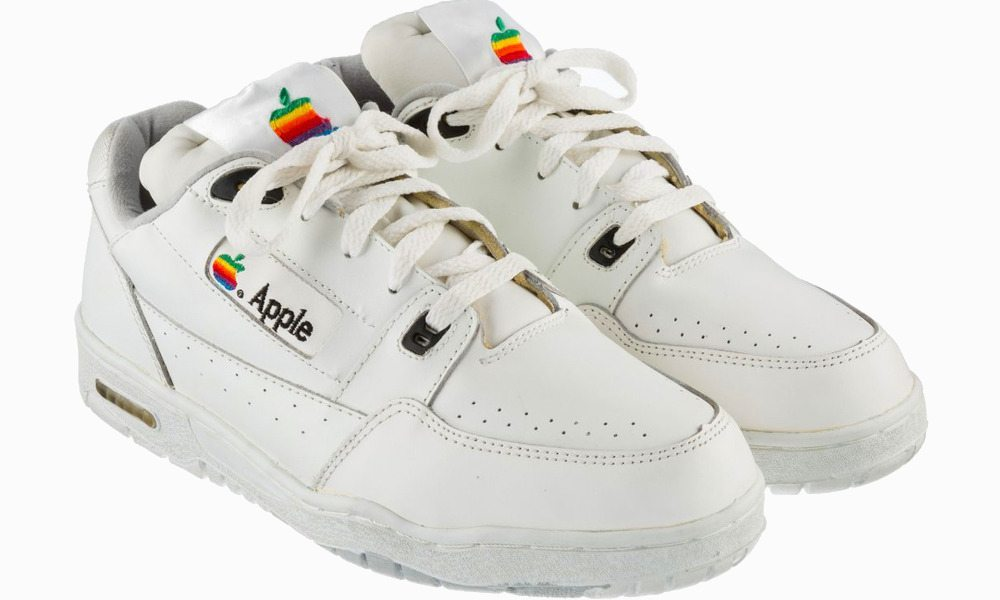 This vintage pair of Apple sneakers is being auctioned off for $15000