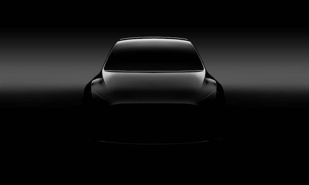 First glimpse of Tesla Model Y SUV