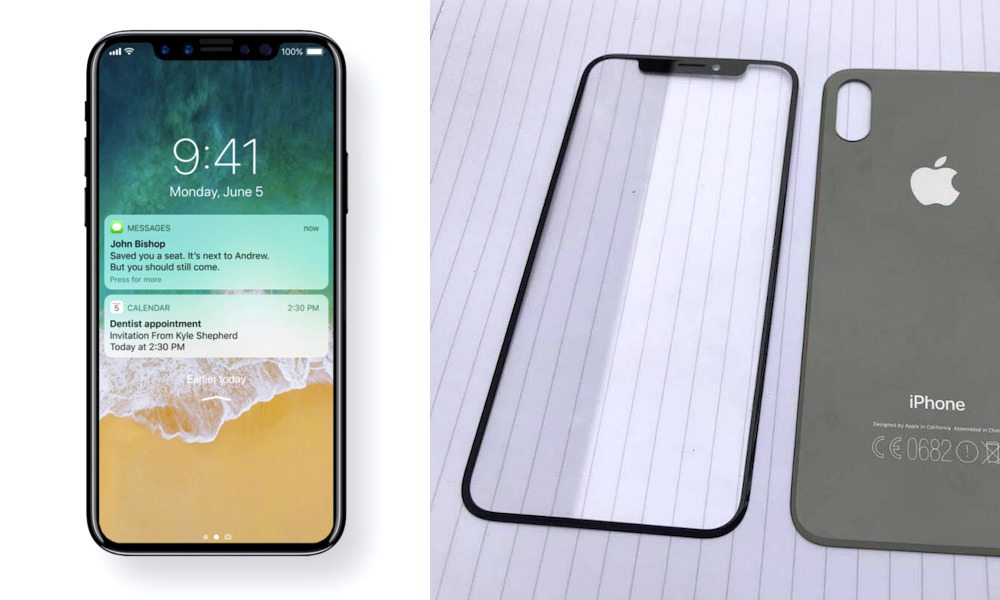 iPhone X Concept (Left) Copyright 2017, iDrop News.