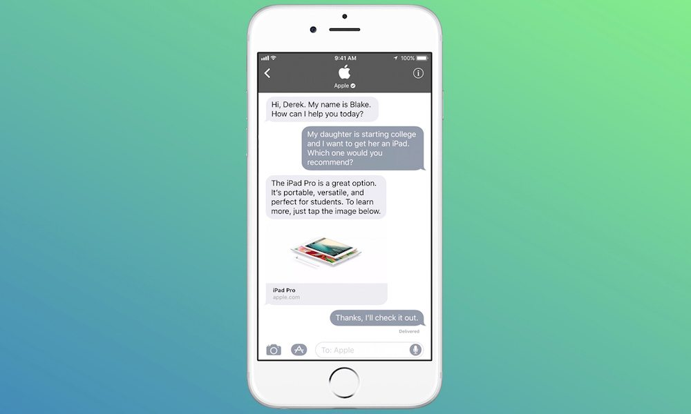 iOS 11's 'Business Chat' Adds Live Customer Service to iMessage