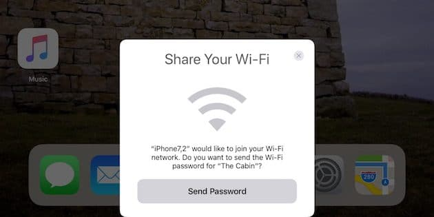 share wifi password ios 11