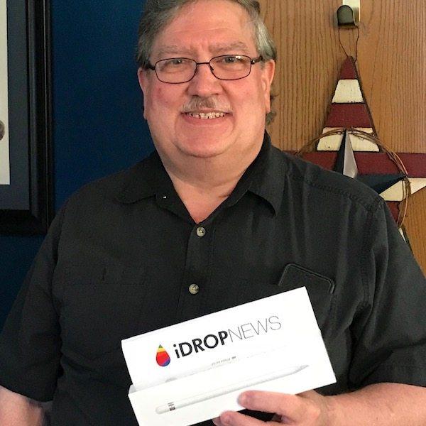 Larry K Idrop News Apple Pencil Giveaway Winner April 2018