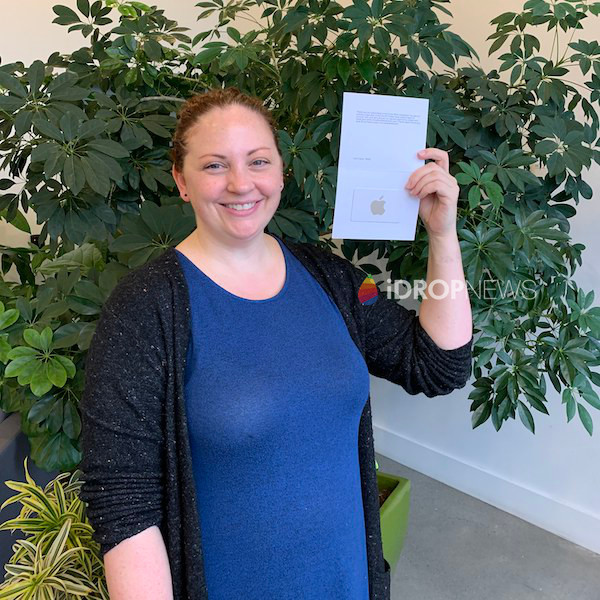 Leana C iDrop News 200 Dollar Apple Gift Card Giveaway Winner