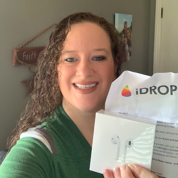 Beth H iDrop News AirPods Giveaway Winner October 2019