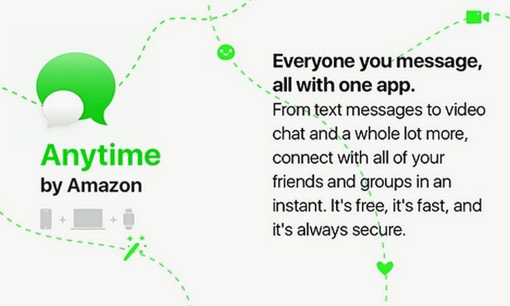 Amazon is reportedly working on a standalone messaging app called Anytime
