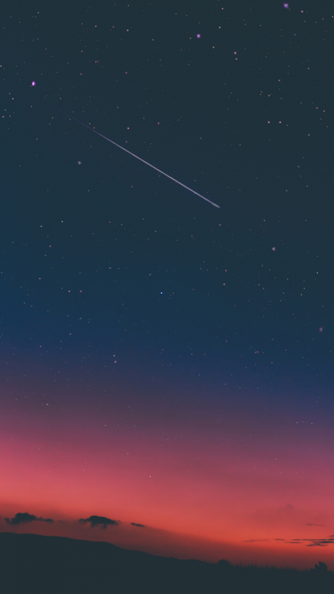 Cosmic Sunset iPhone Wallpaper
