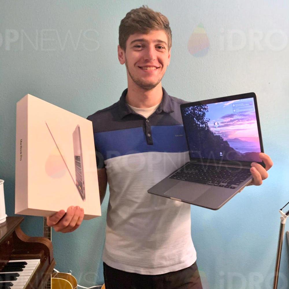 Elijah S iDrop News MacBook Pro Giveaway Winner August 2020