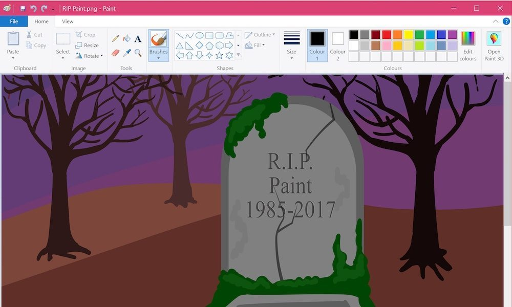 R.I.P. Microsoft Paint - 1985 to 2017