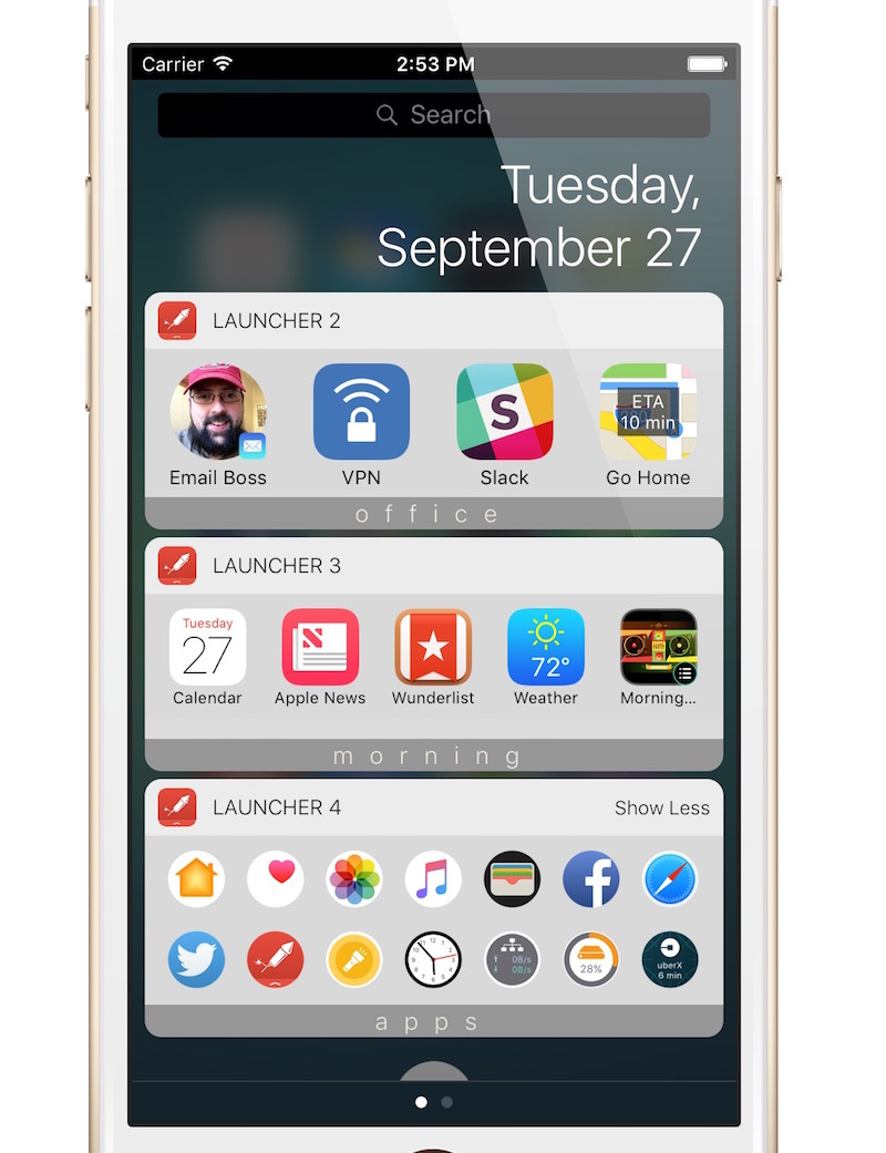 One More Thing… Screen 6 IPhone, Wearables and Applications Launchers