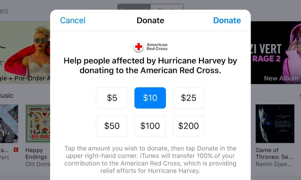 Apple Now Accepting Donations for Hurricane Harvey Relief