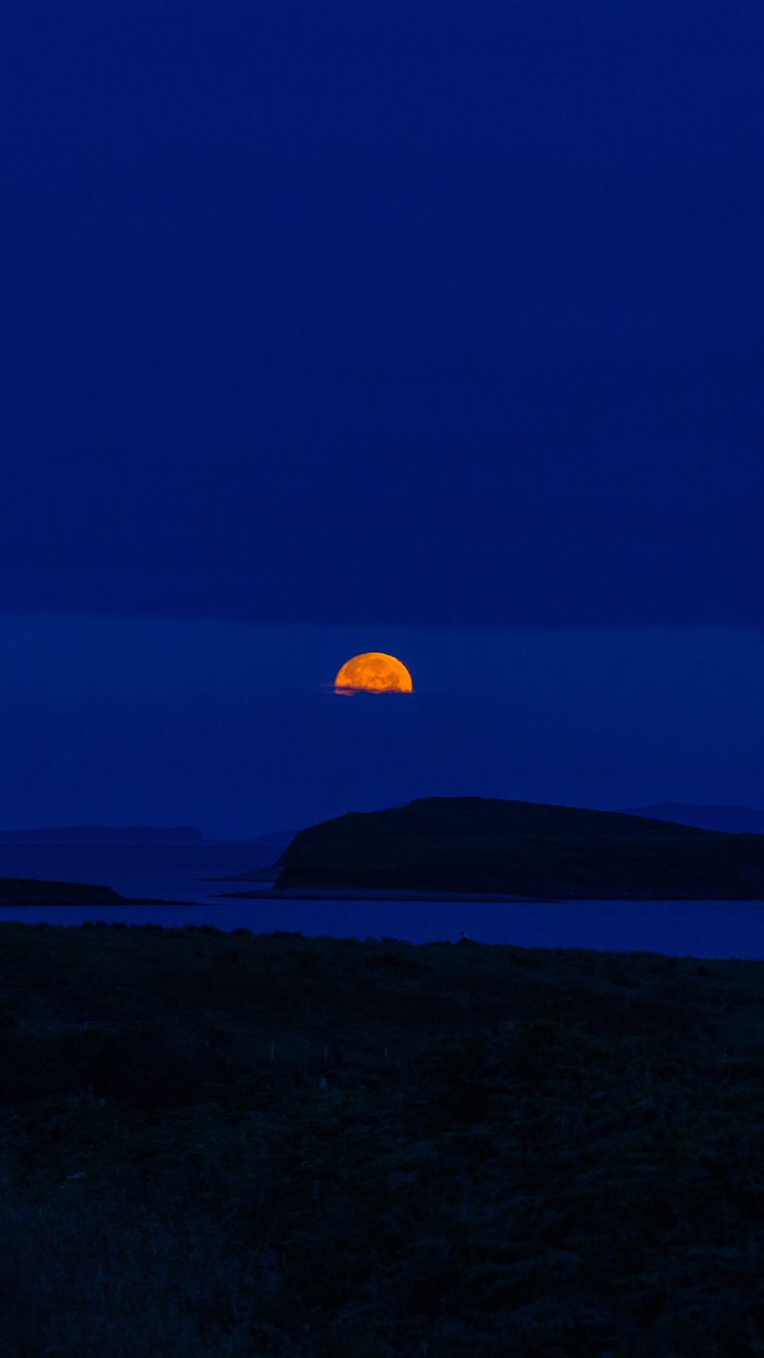 Horizon, Orange, Silhouette iPhone Wallpaper