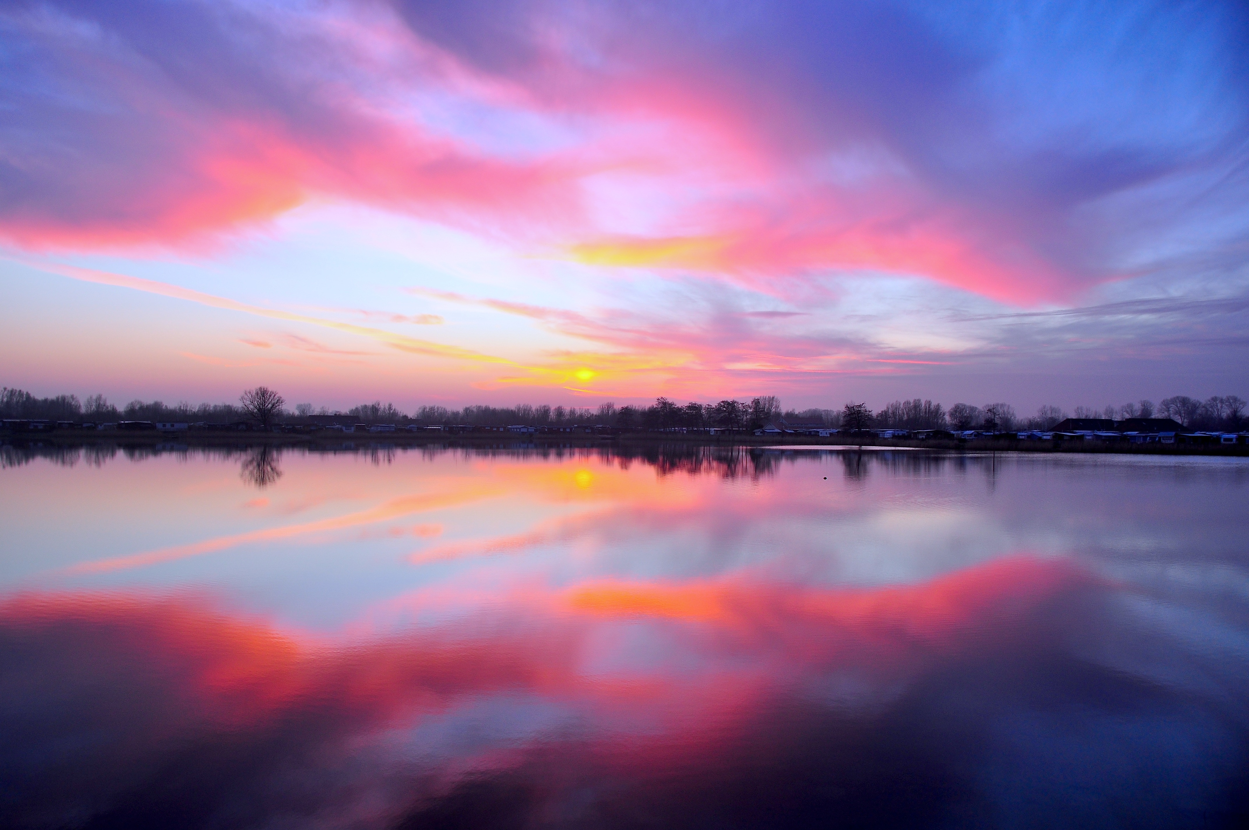 Cuxhaven Beautiful Sunrise iPhone Wallpaper