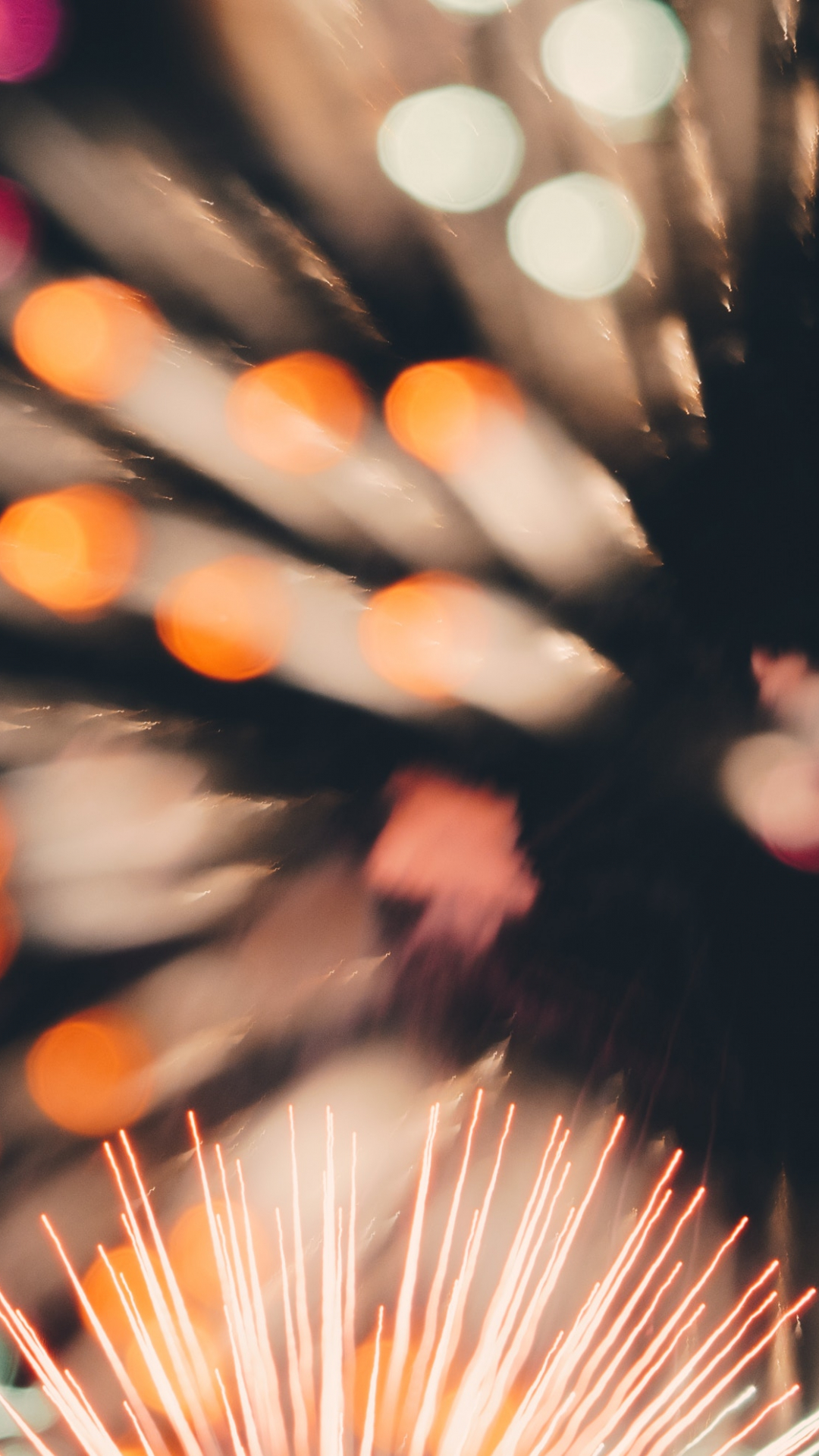 Firework Blur iPhone Wallpaper