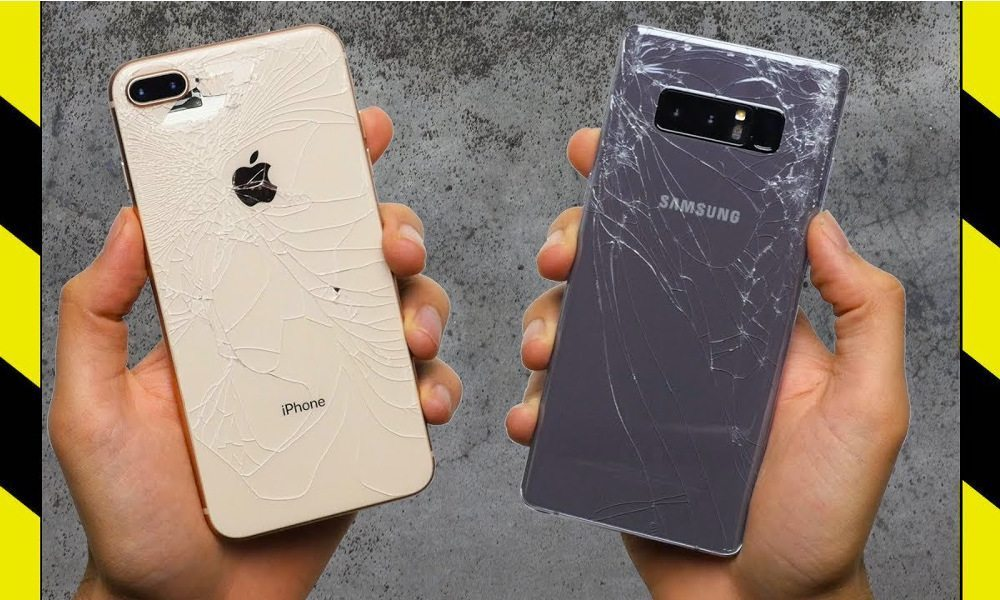 iPhone-8-vs-Galaxy-Note-8-Drop-Test