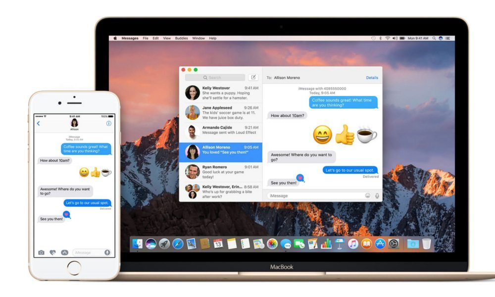 iMessage-MacBook
