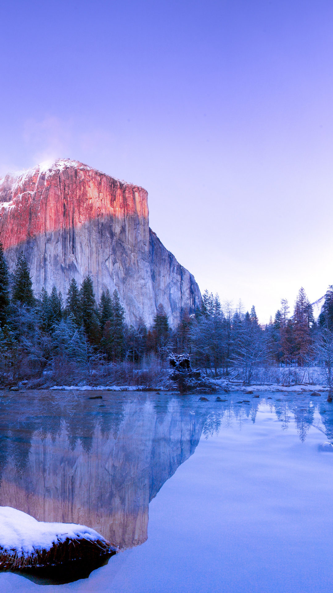 Yosemite Lake iPhone Wallpaper