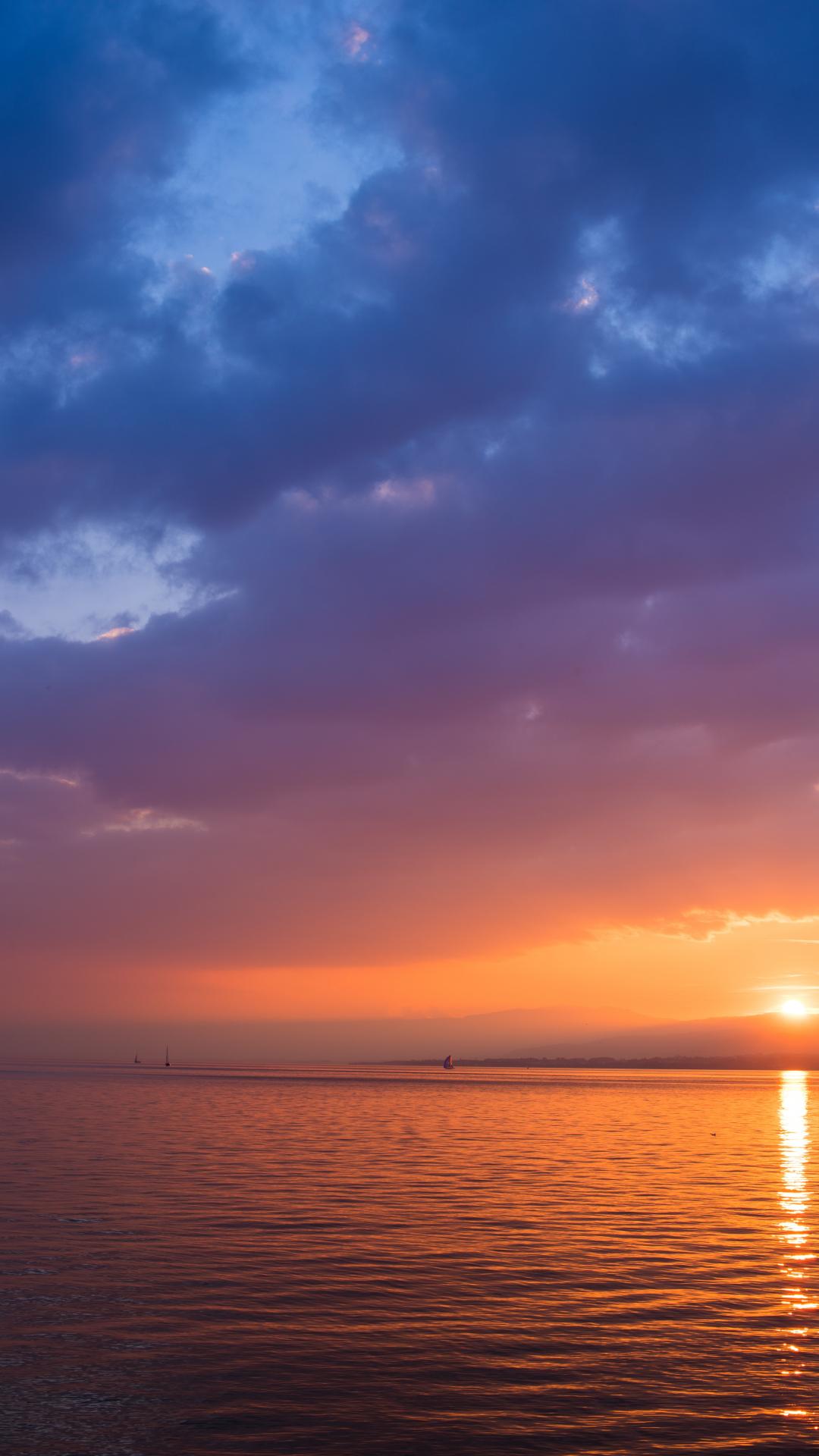 Sunrise, Sky iPhone Wallpaper