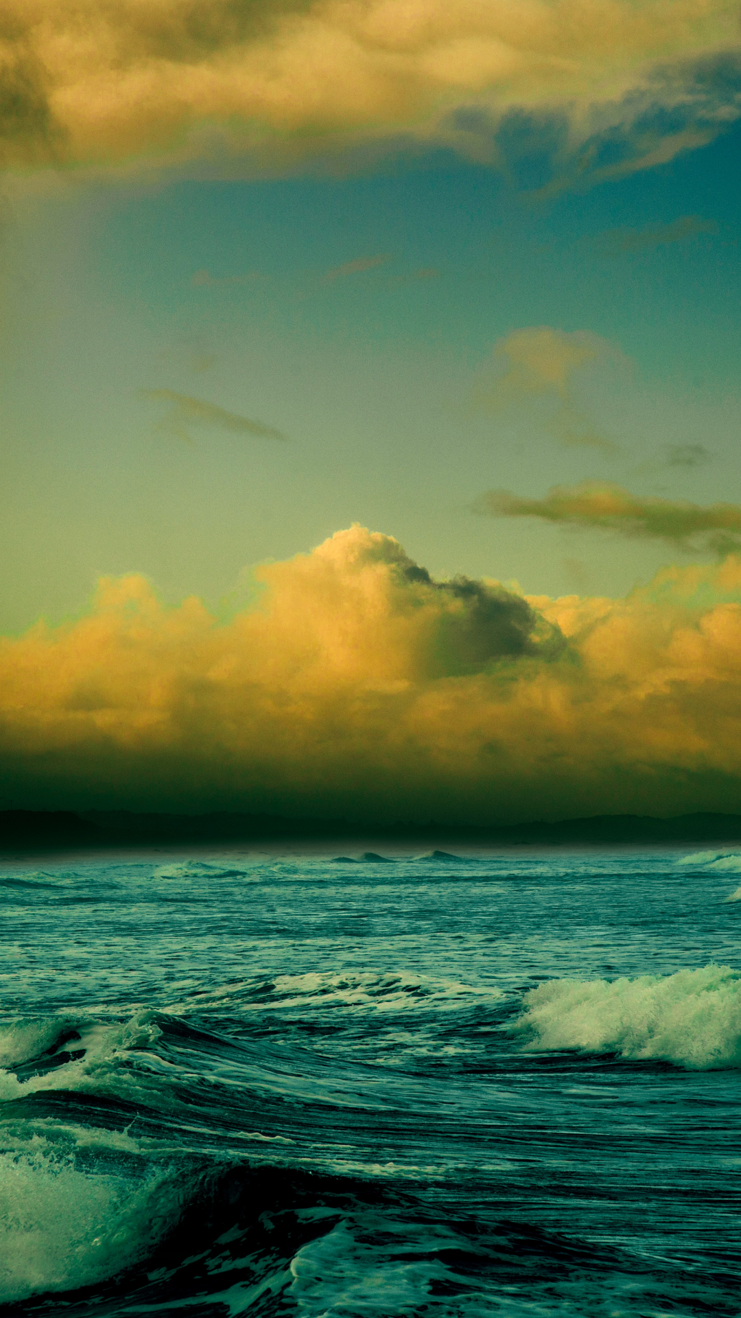 Cloud, Ocean, Water And Sea iPhone Wallpaper
