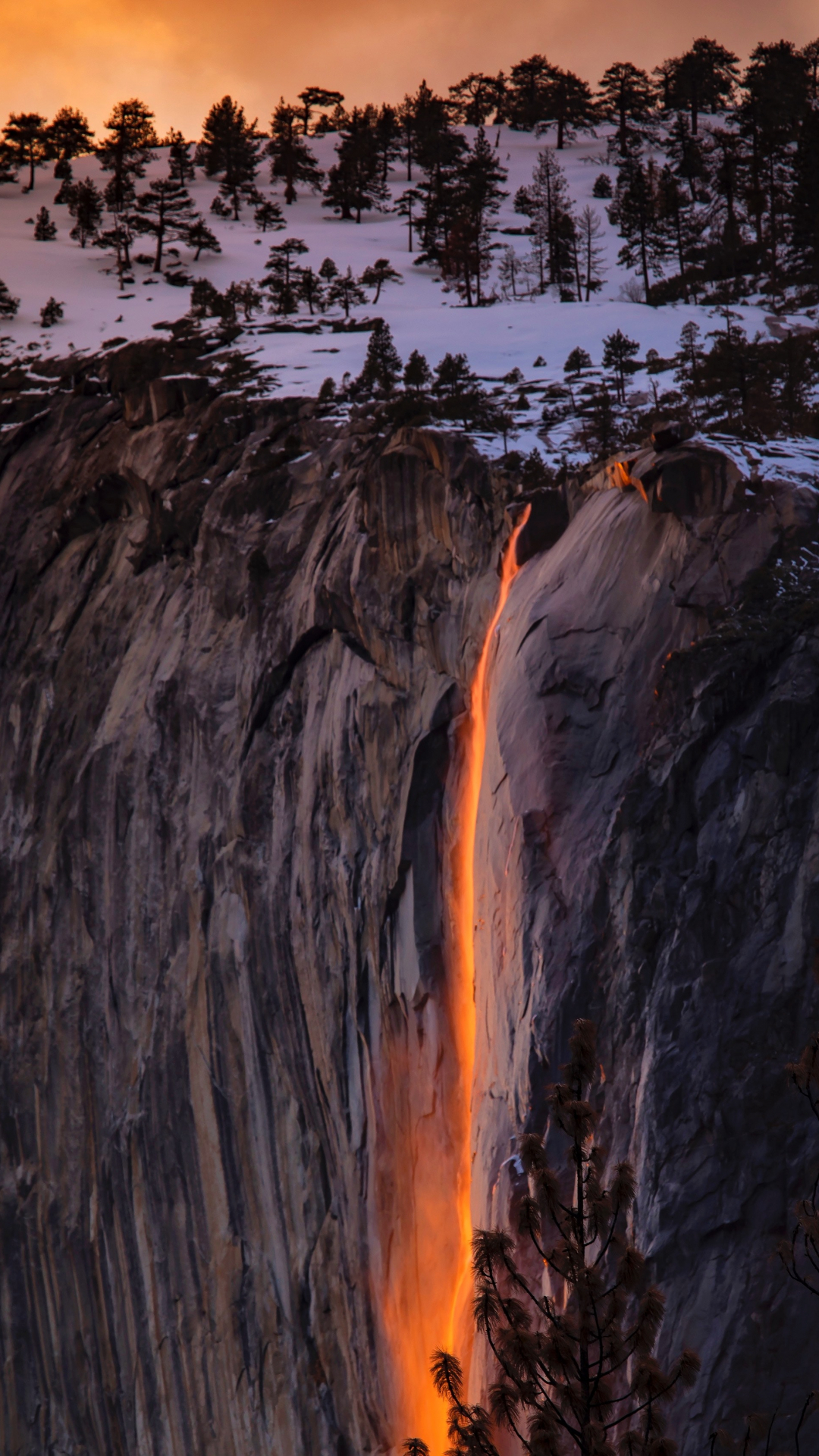 Fire Falls iPhone Wallpaper