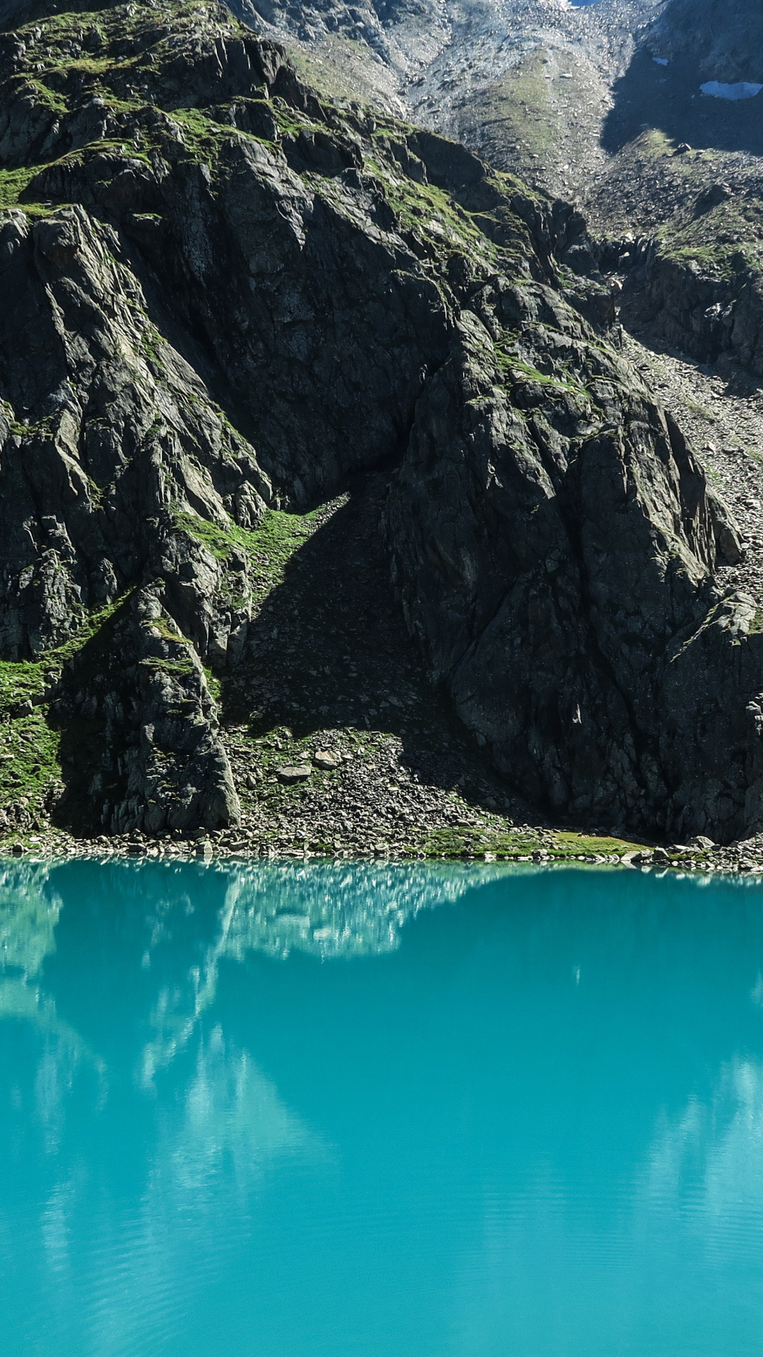 Water, Mountain, Rock iPhone Wallpaper