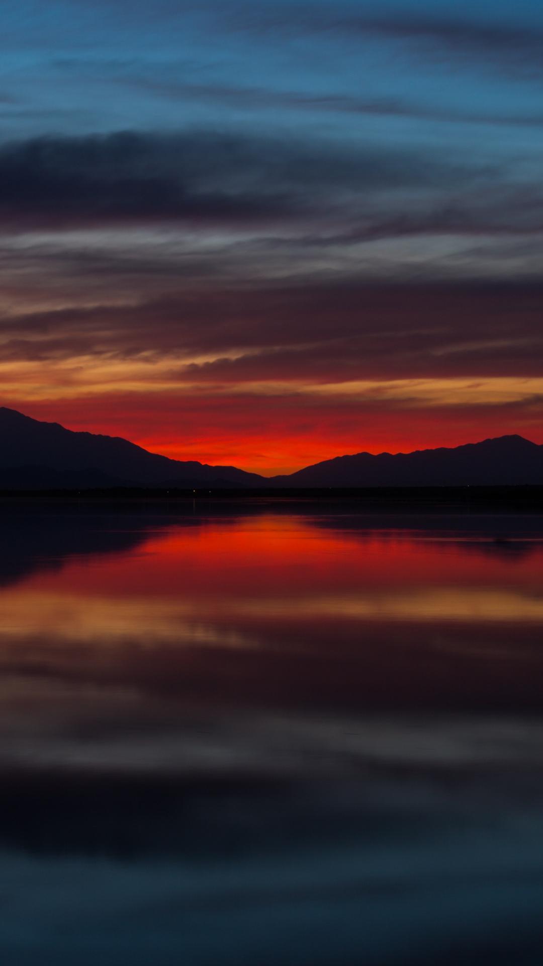 Salton Sea Sunset iPhone Wallpaper