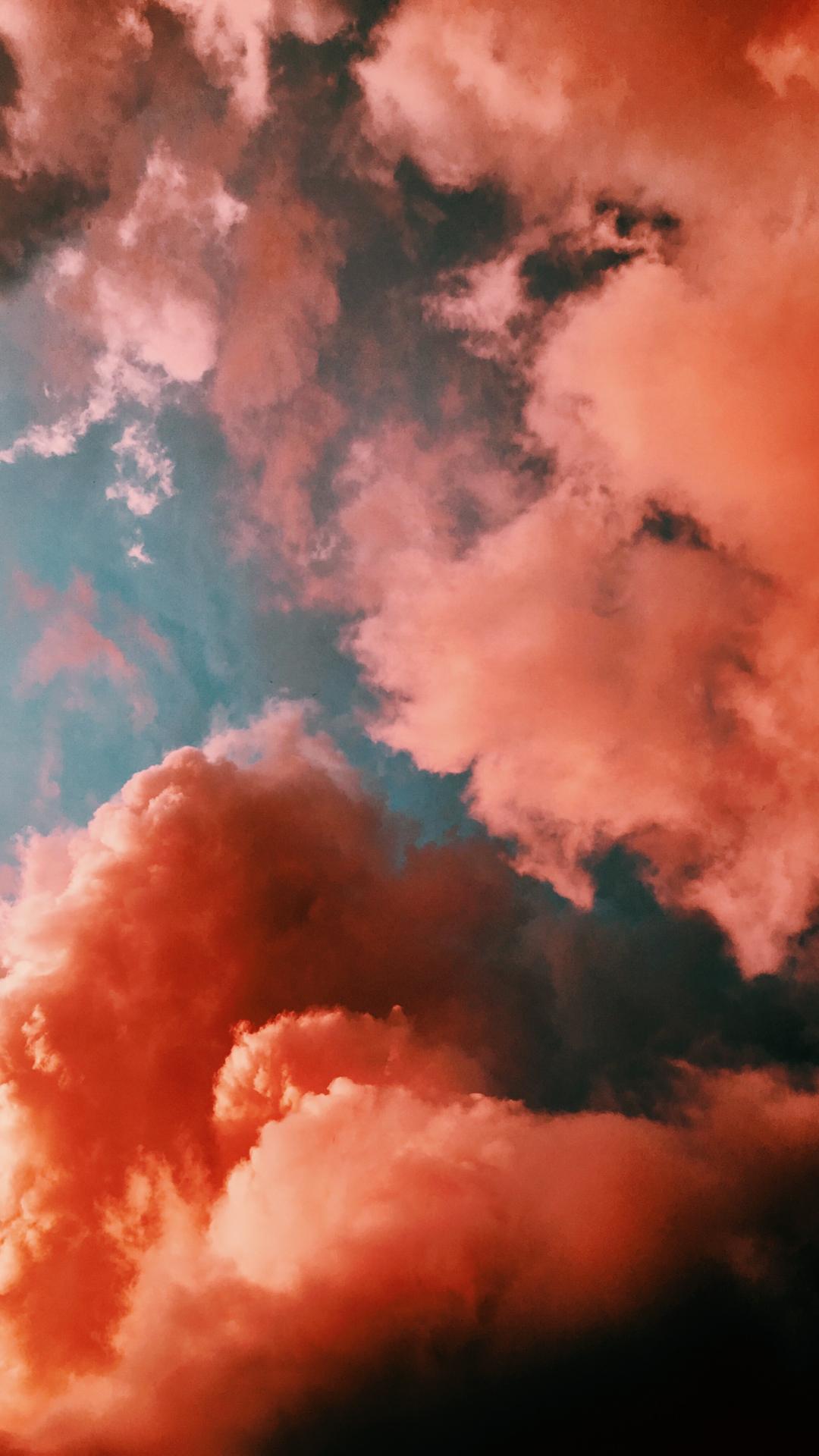 Cloud, Orange, Sky iPhone Wallpaper
