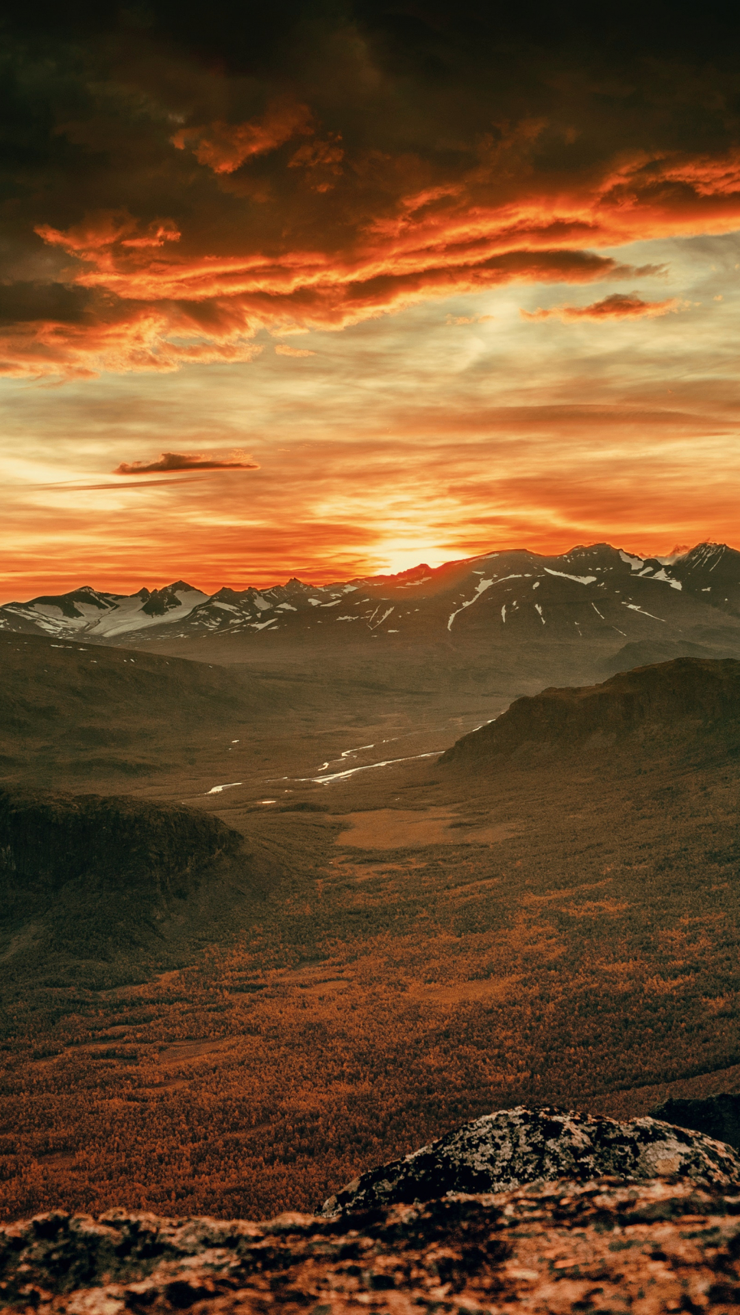 Sunset, Mountain, Cloud iPhone Wallpaper