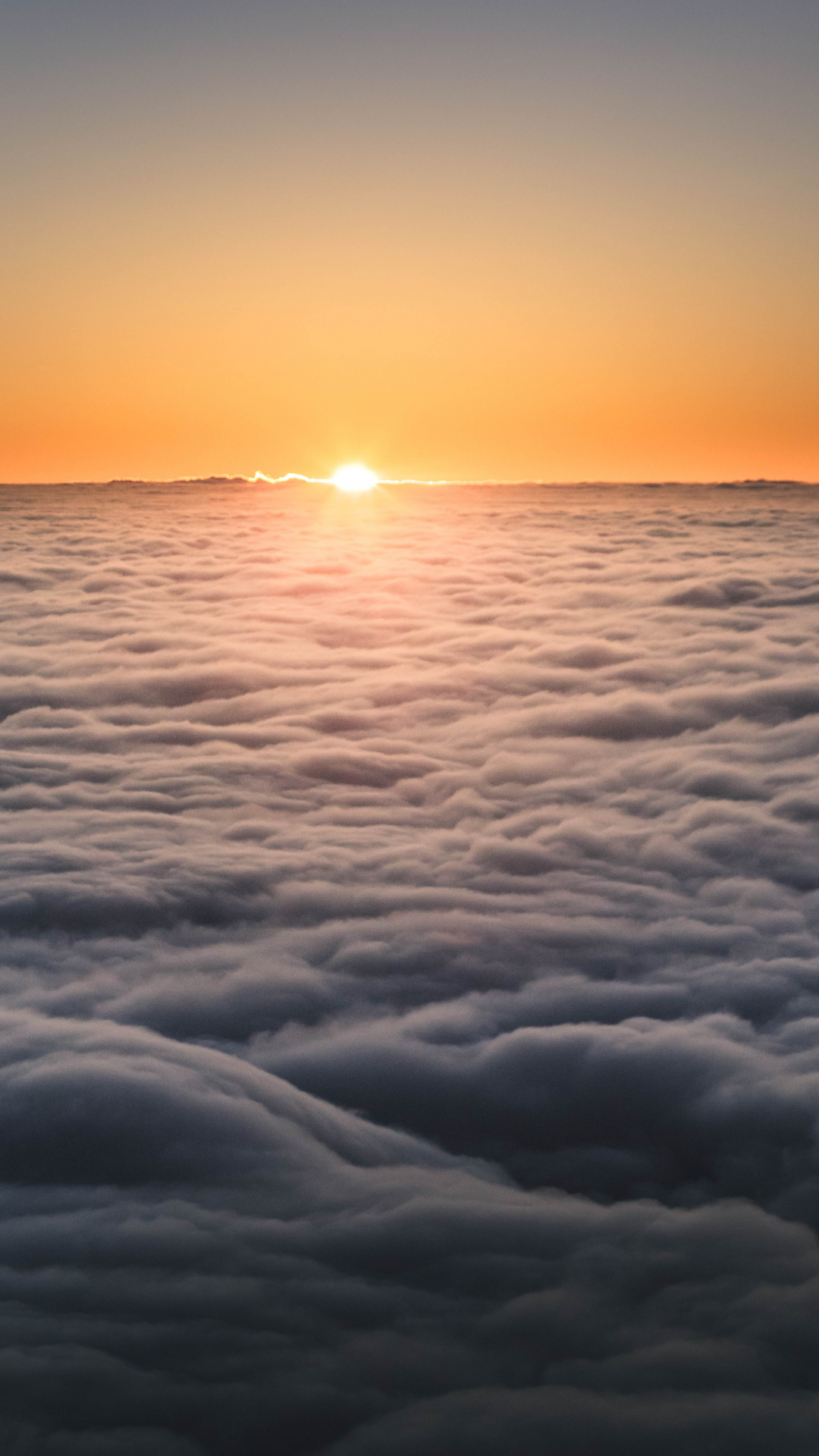 Sunset Above The Clouds Iphone Wallpaper Idrop News