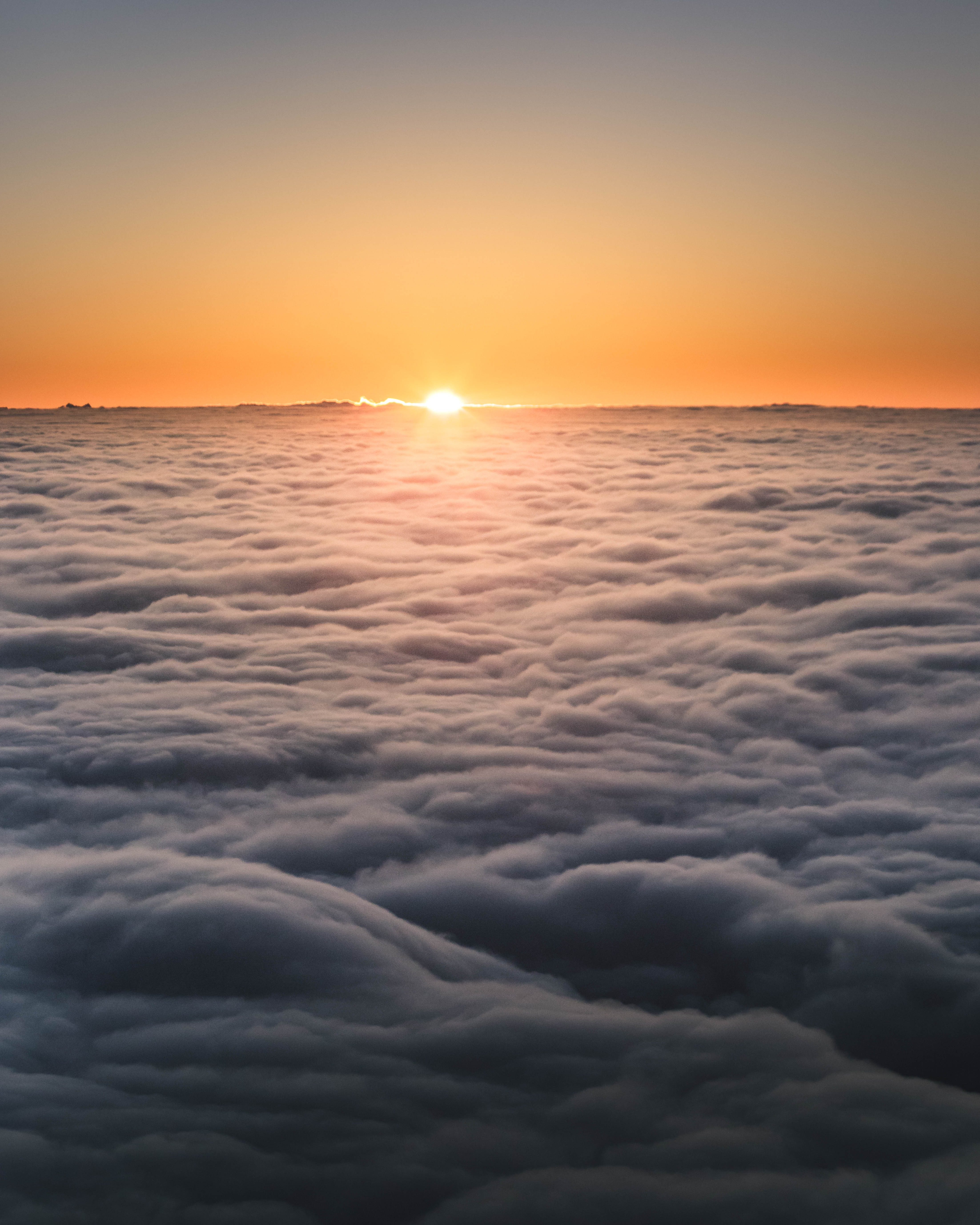 Sunset Above The Clouds IPhone Wallpaper