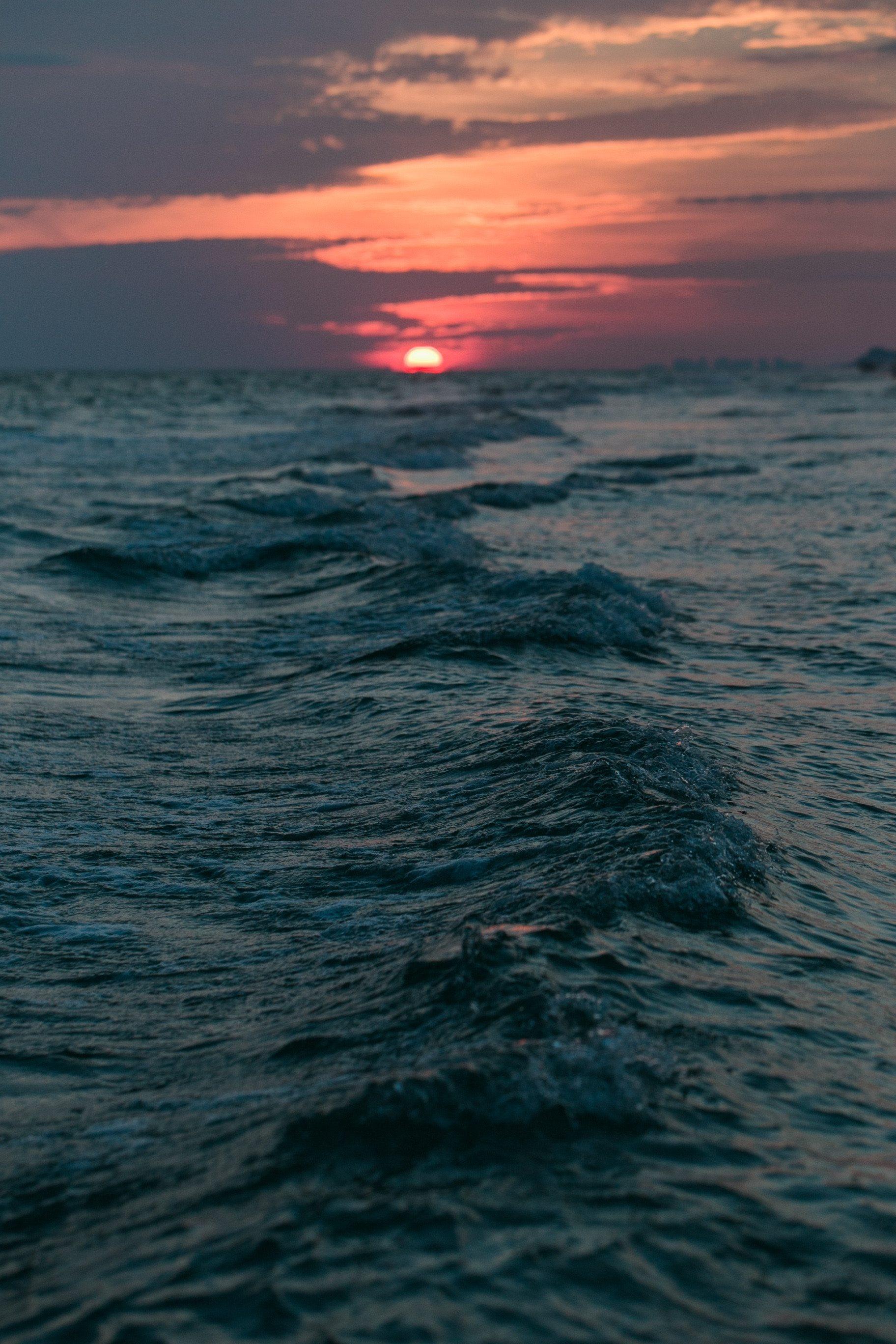 Sunset, Ocean, Beach iPhone Wallpaper - iDrop News