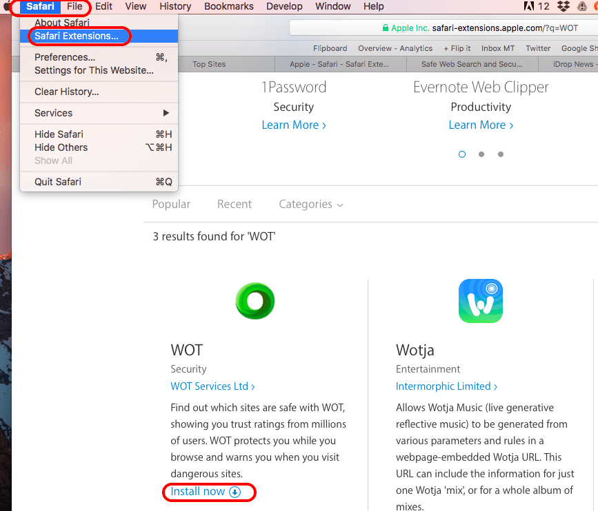 How to Install and Uninstall Web Of Trust (WOT) for Safari