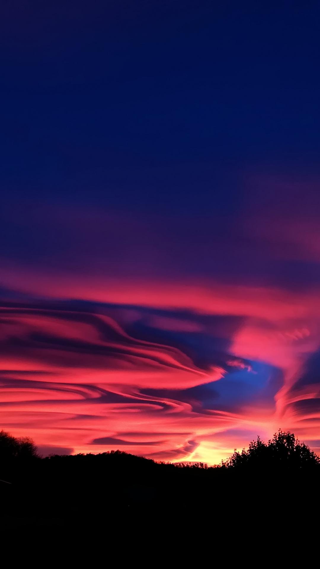 Sunset Clouds iPhone Wallpaper
