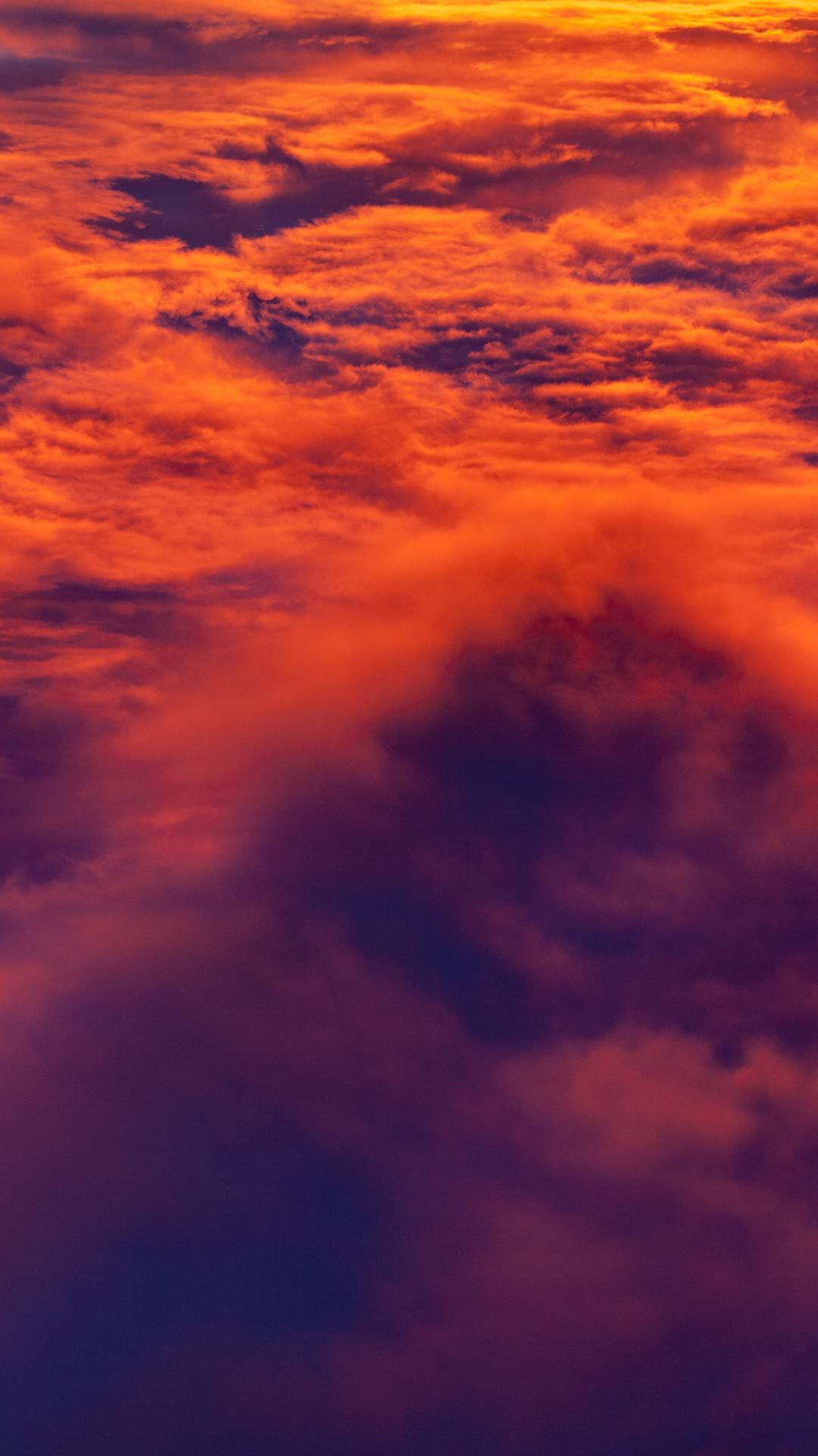 Aerial Cloud Sunset Iphone Wallpaper Idrop News