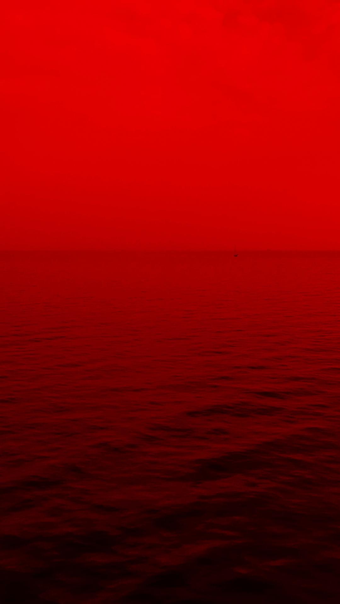 Red Edited Shot iPhone Wallpaper