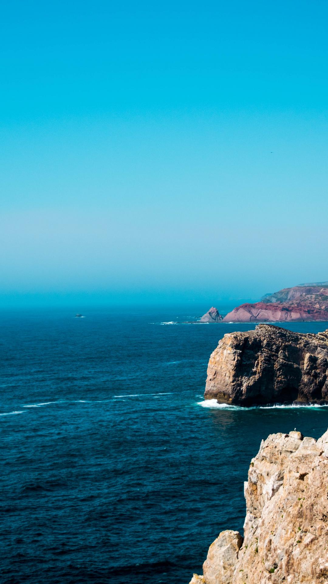 Sea, Cliff, Coast iPhone Wallpaper