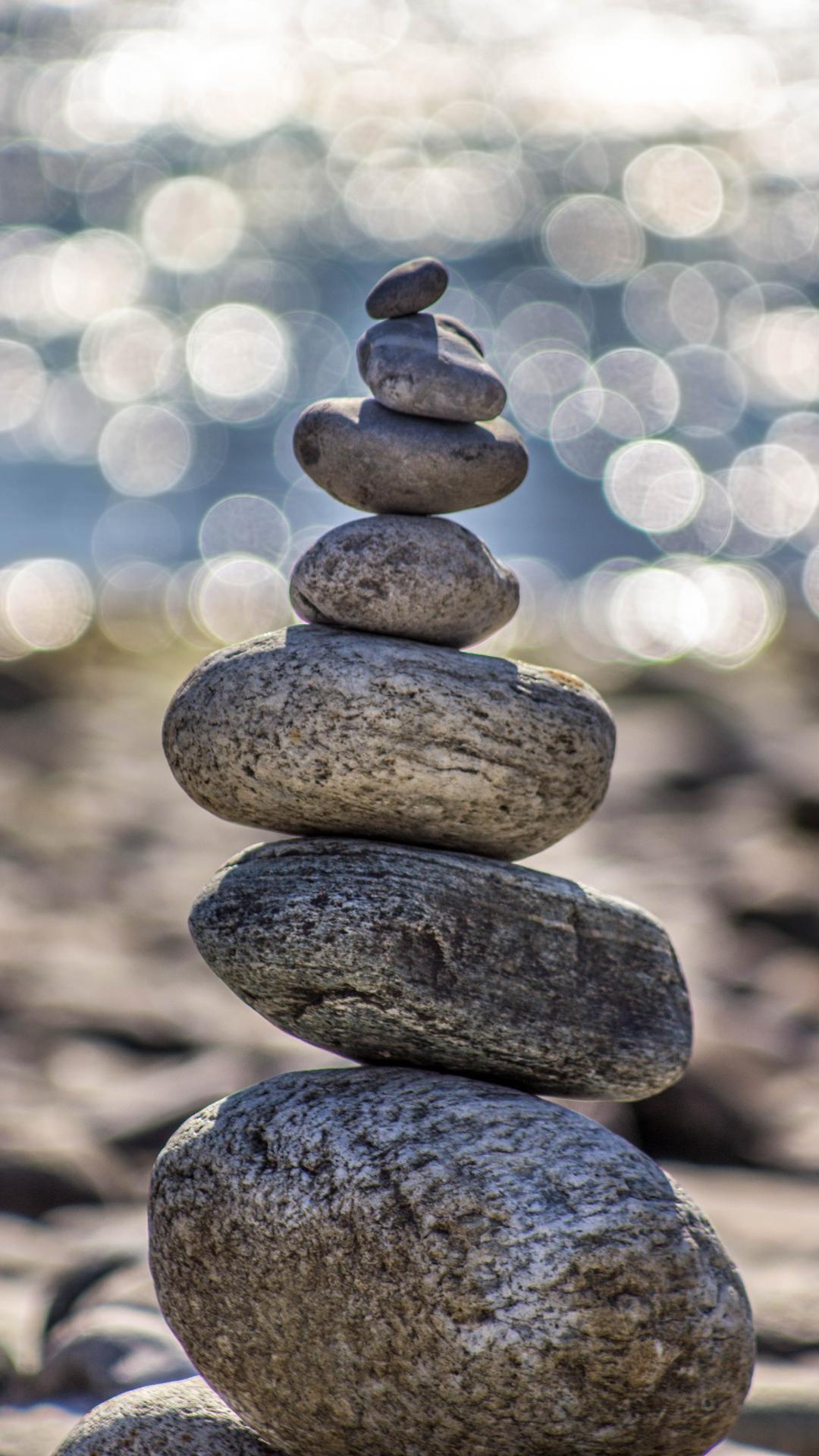 Rock, Balance, Stone iPhone Wallpaper