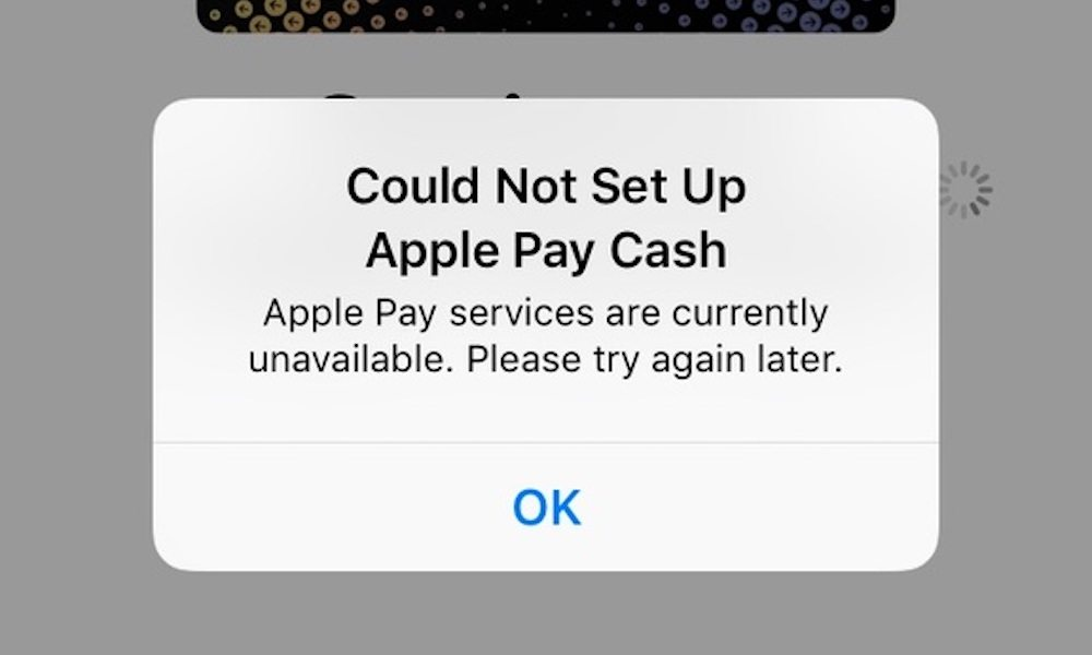 Apple Pay Cash Not Working