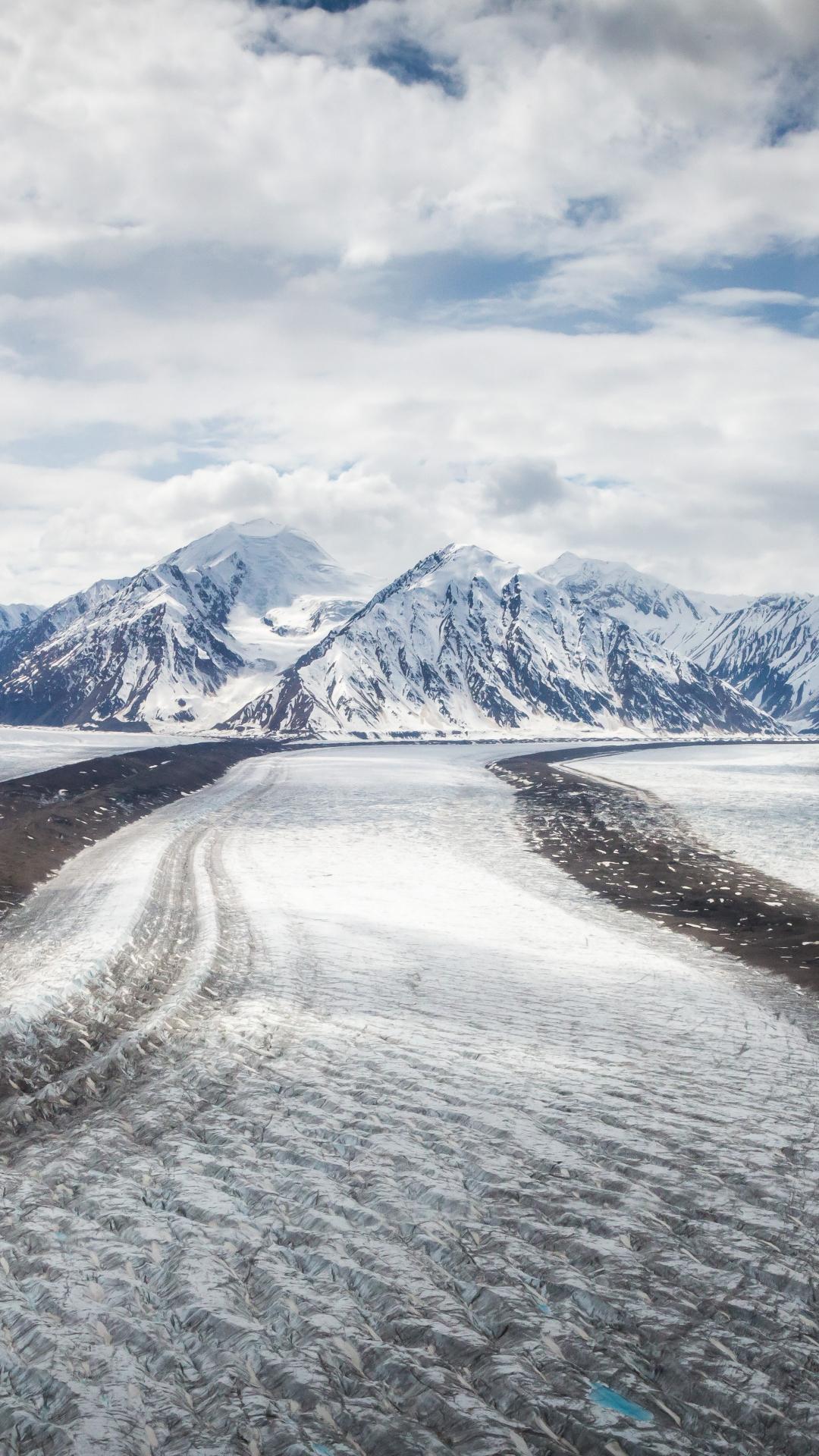 Snow Roads iPhone Wallpaper