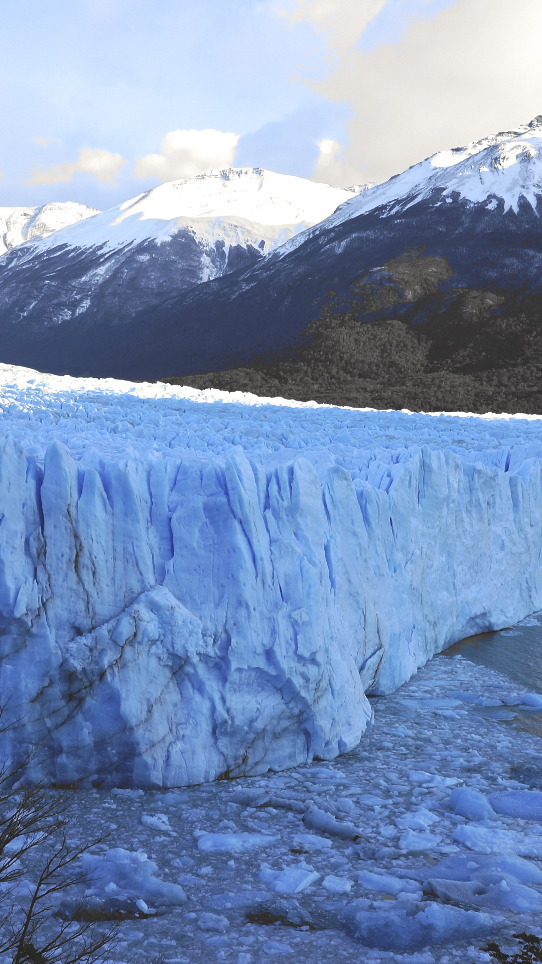 Glacier and Lake iPhone Wallpaper