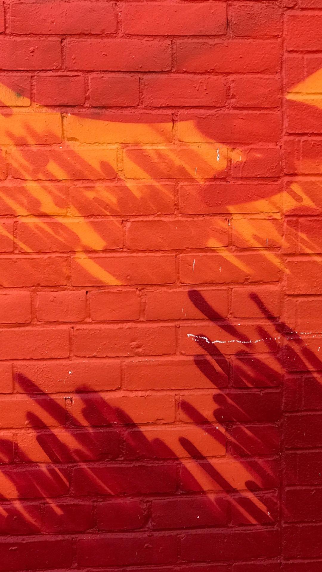 Painted Brick Wall iPhone Wallpaper