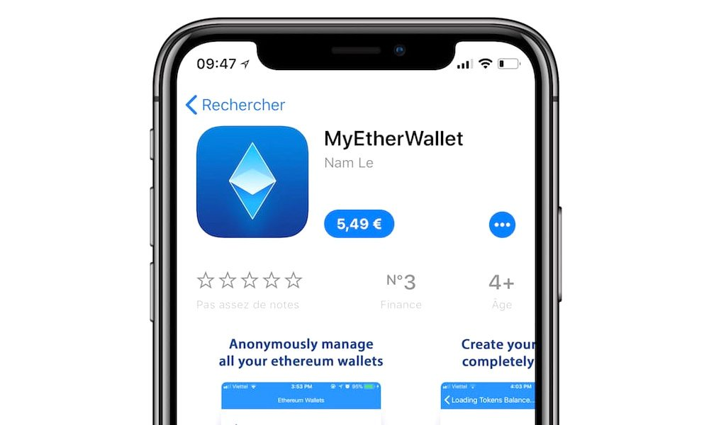 Apple Kills Popular (But Fake) Cryptocurrency App 'MyEtherWallet'