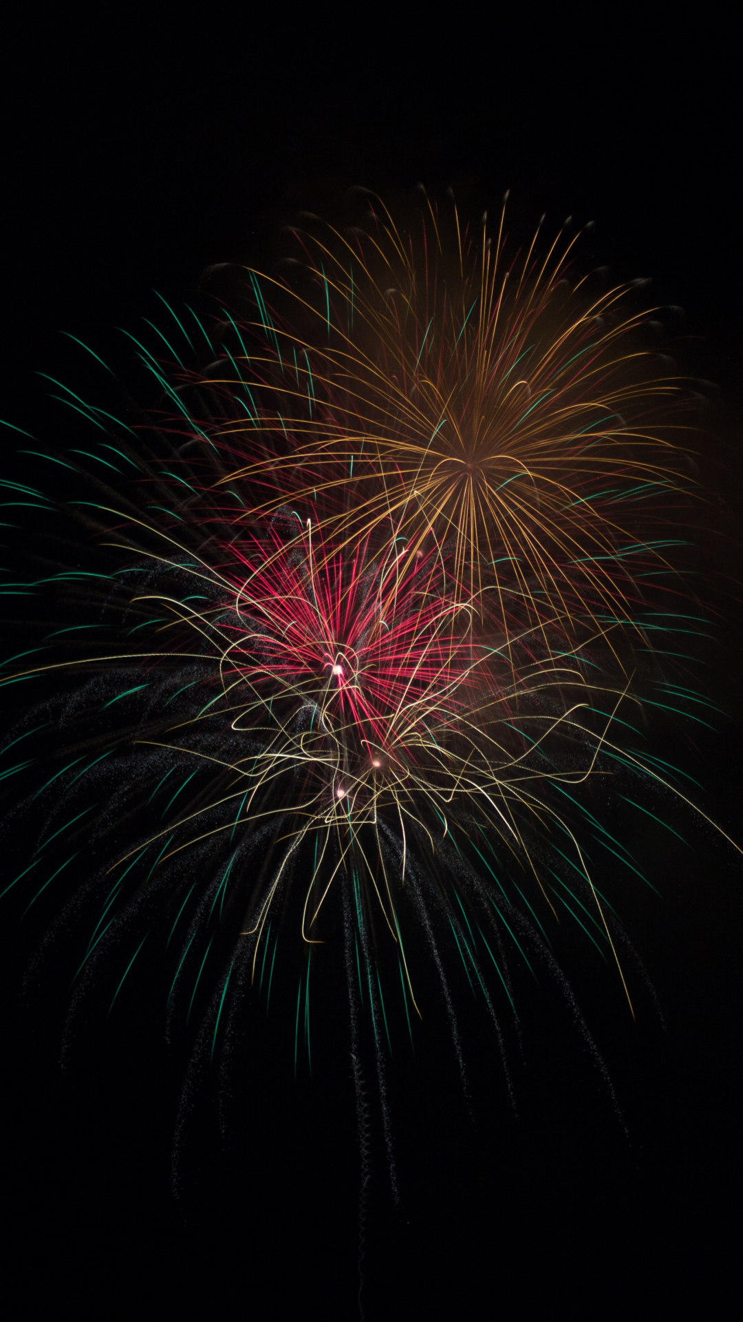 Firework, Color, Dark iPhone Wallpaper