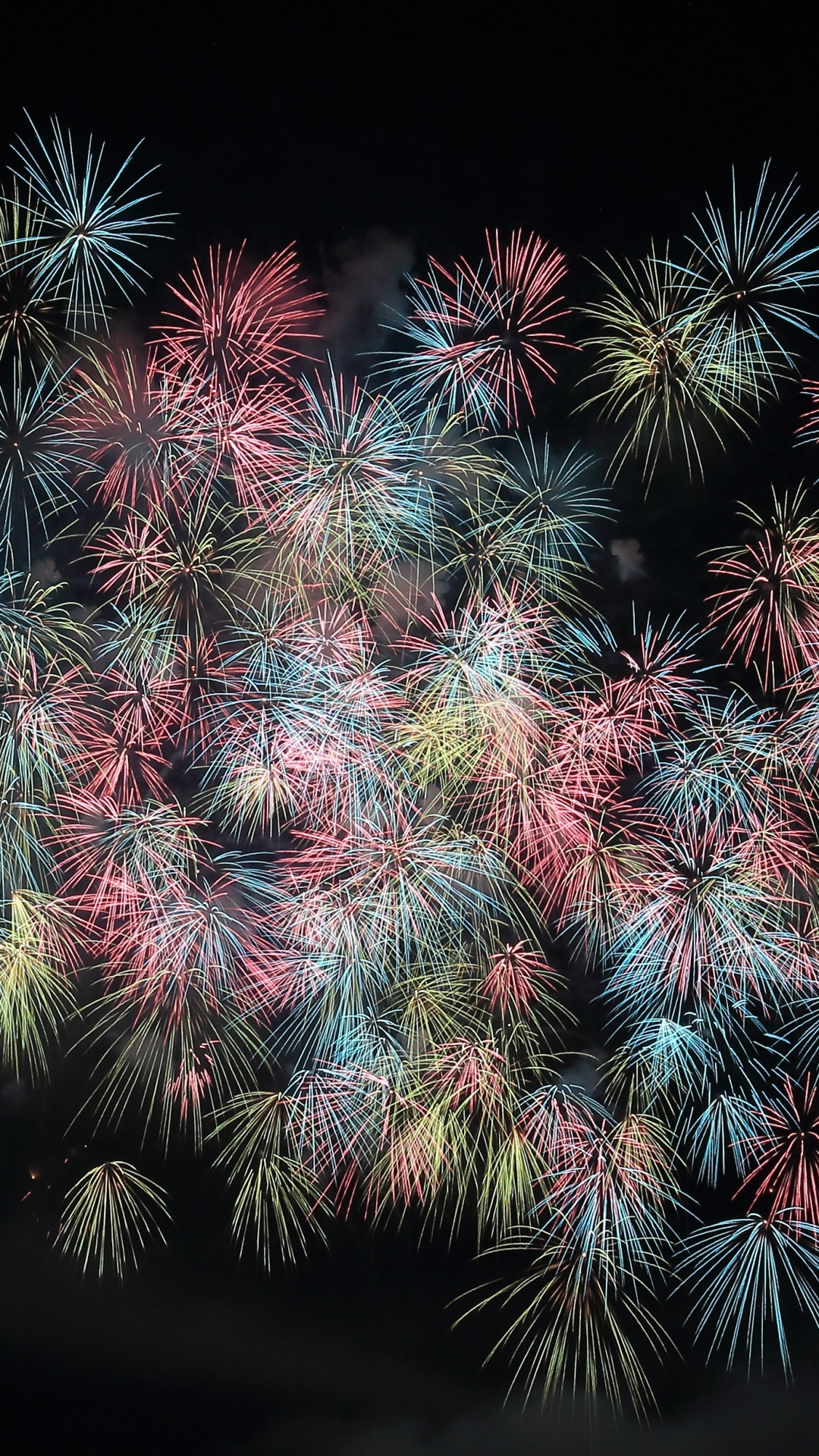 Firework, Night, iPhone Wallpaper