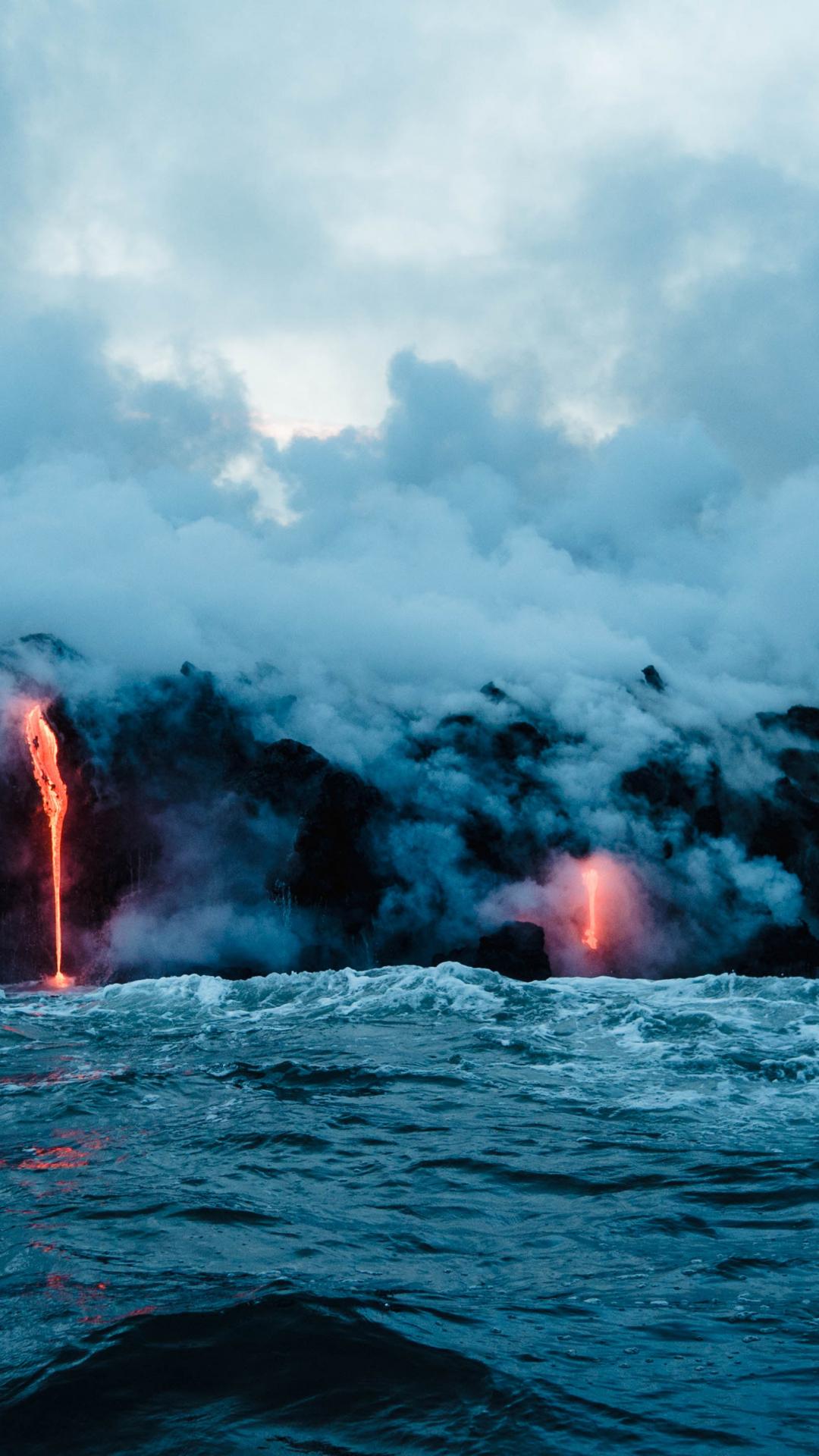 Big Island Lava iPhone Wallpaper