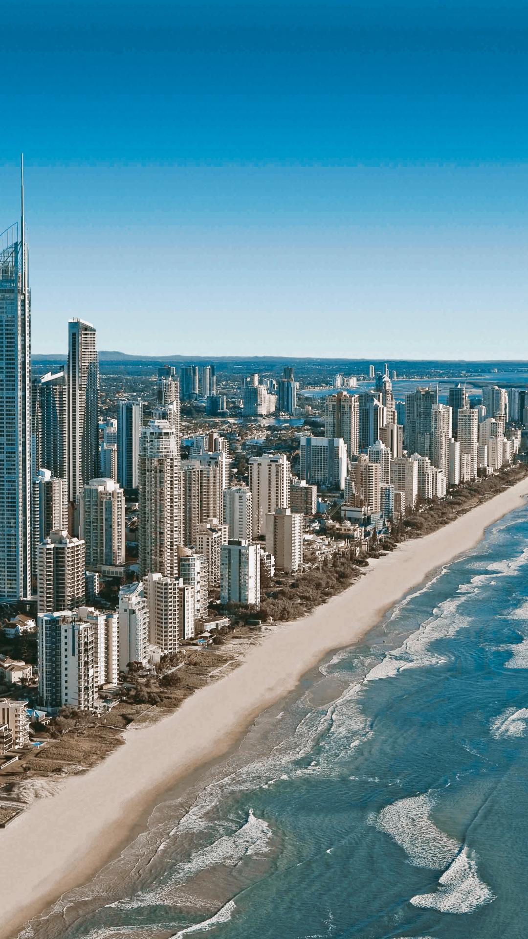 Gold Coast Skyline iPhone Wallpaper